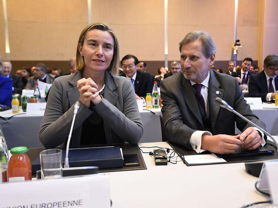 Mogherini und Hahn wollen keine weitere Verschärfung der Lage