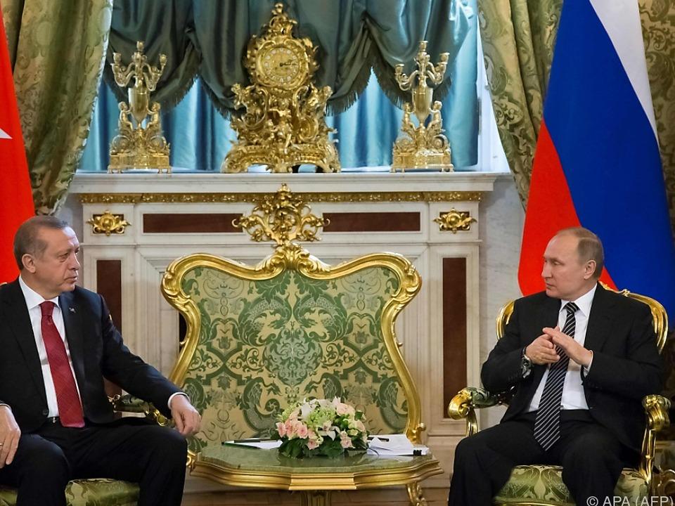 Putin empfing Erdogan in Moskau
