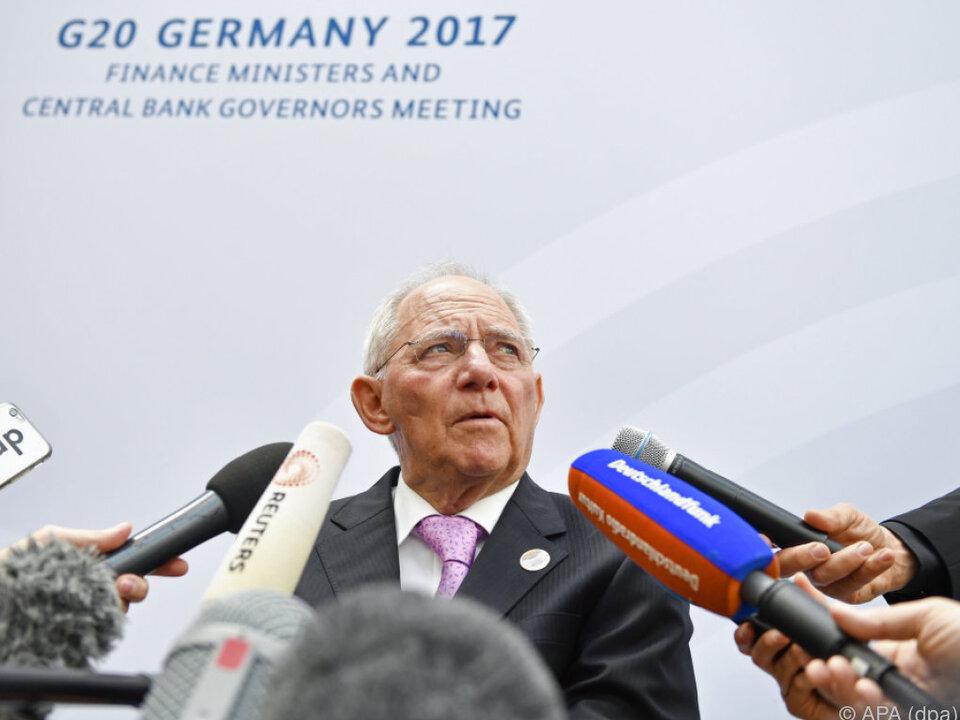 Schäuble beim Treffen der G20-Finanzminister