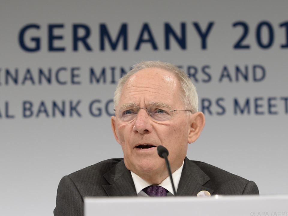 Schäuble sieht den Prozess \