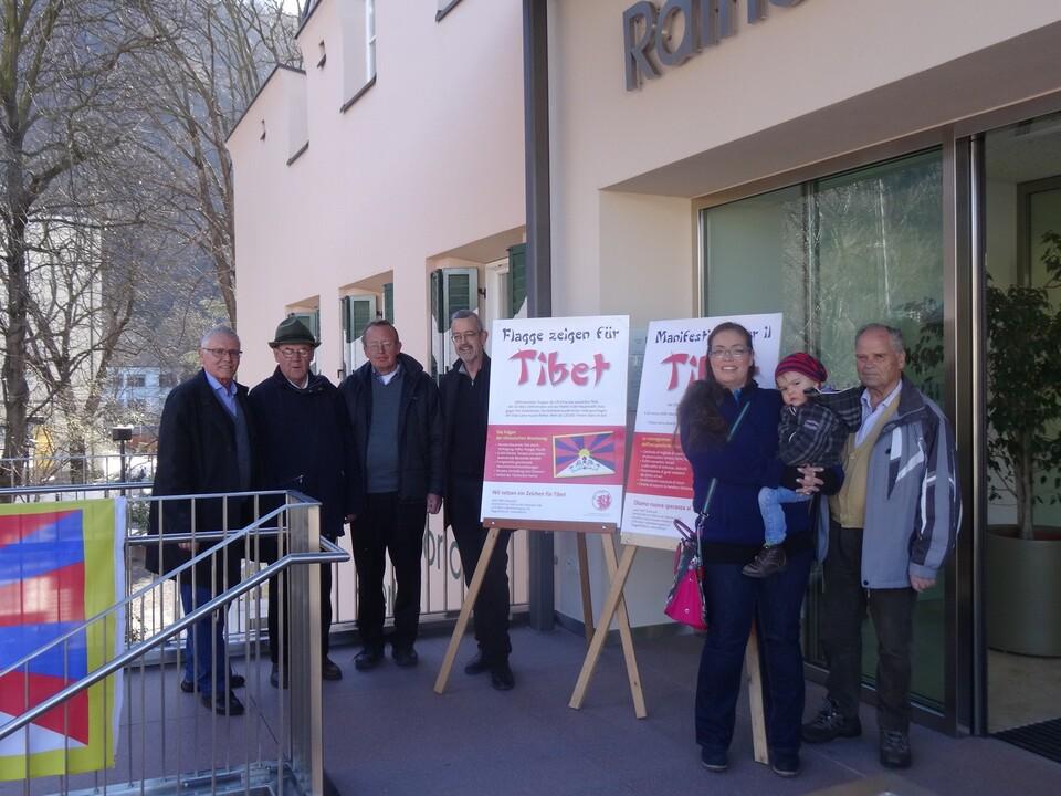 Solidaritt mit Tibet Rathaus Terlan 2017