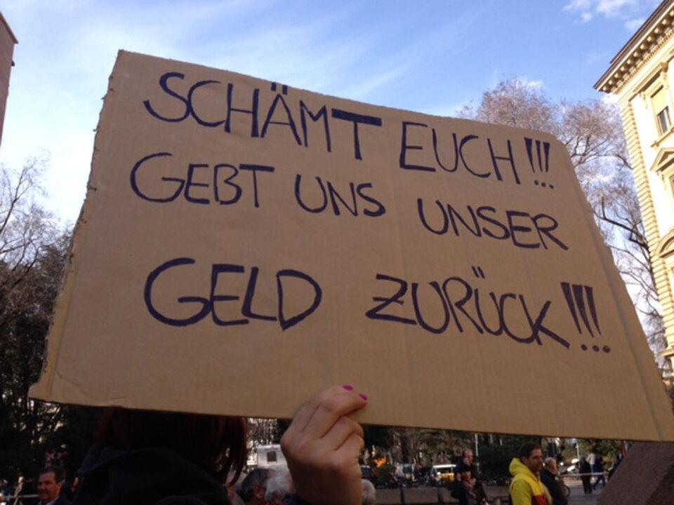 Protest Politikerrenten