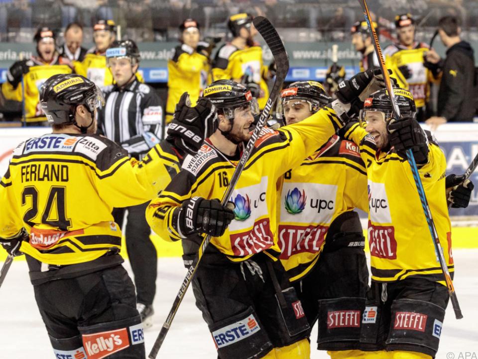 Vienna Capitals wollen auch in der Finalserie jubeln
