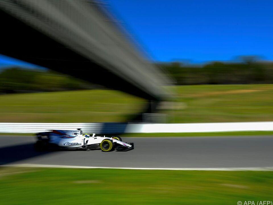 Williams-Fahrer Felipe Massa war flott unterwegs