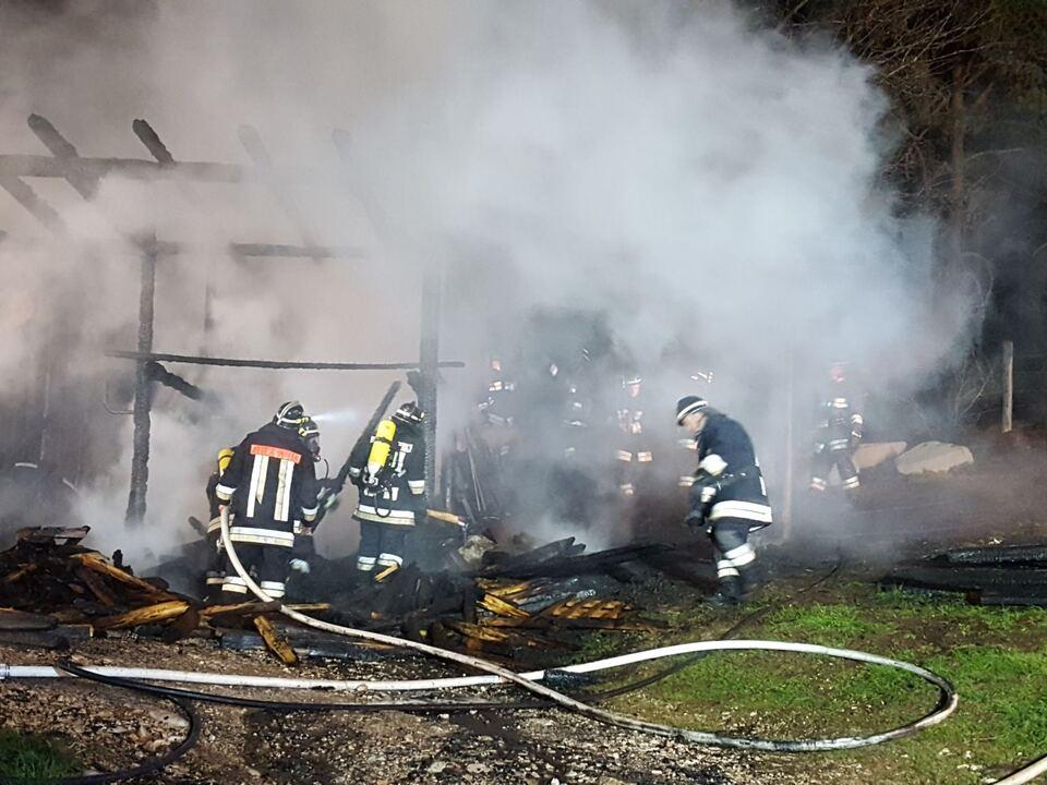 Brand Deutschnofen Holzschuppen