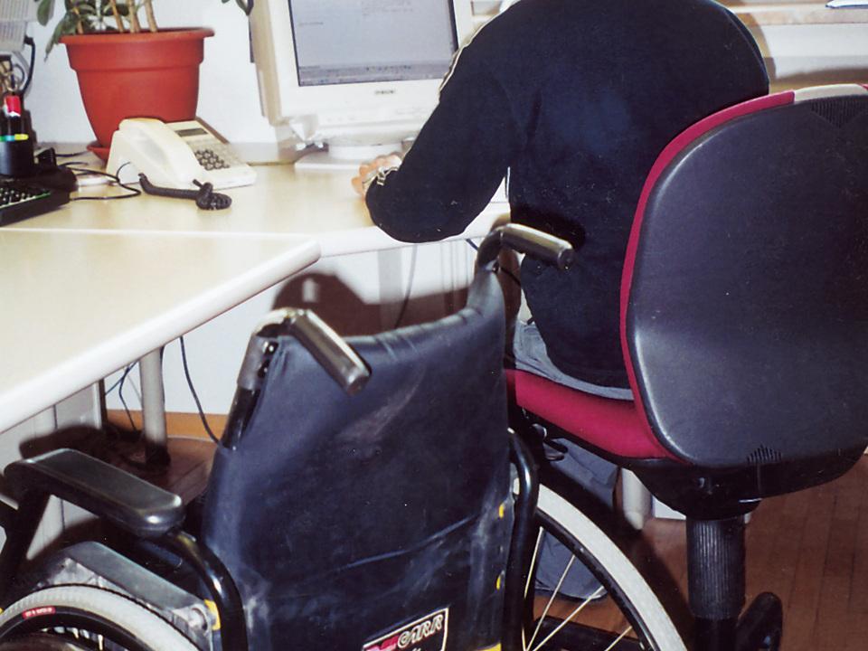 Rollstuhl Arbeit Behinderung