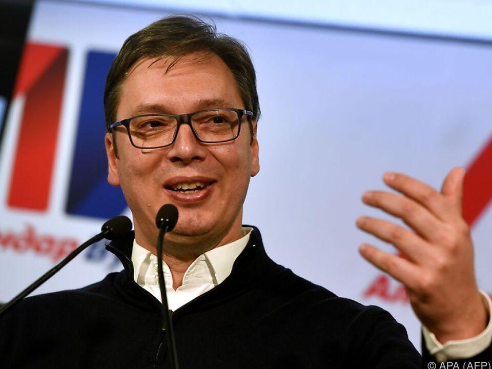Aleksandar Vucic dankte den Wählern