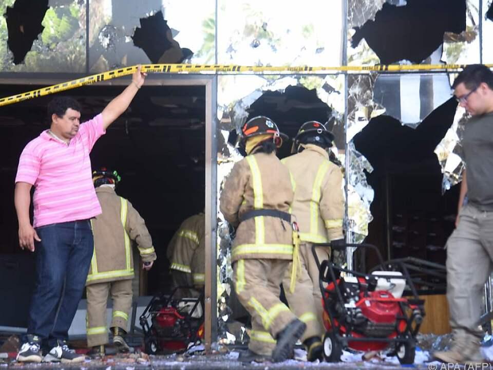Am Kongressgebäude kam es zu schweren Schäden