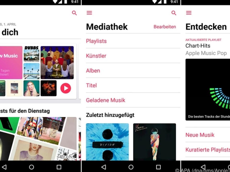 Apple Music für Android bietet nun Songtexte zum Mitlesen