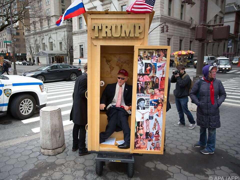 Auch ein Präsident muss mal aufs Klo