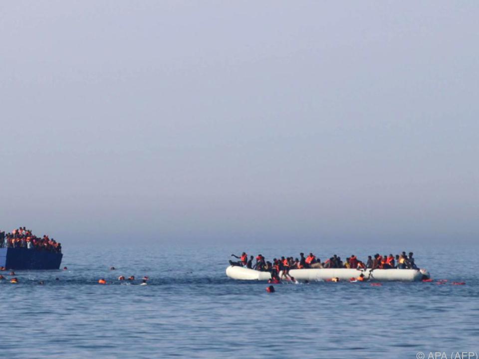 Bürgerkriegsflüchtlinge sind kaum auf den Booten