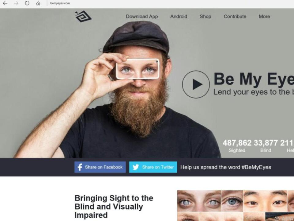 Dänische App soll Sehbehinderten helfen