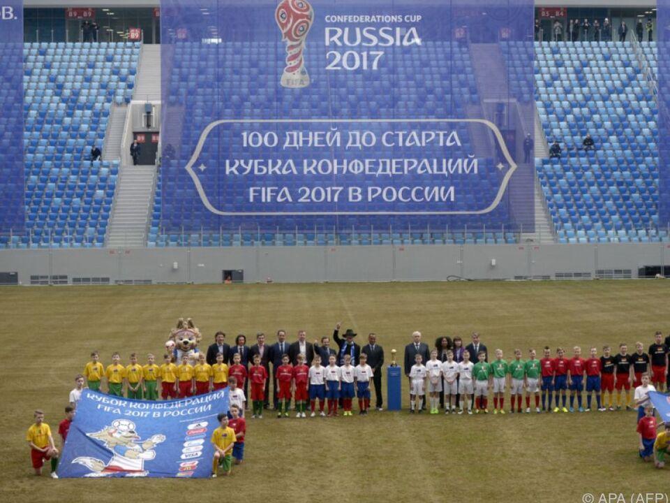 Der Confederations Cup lockt bisher keine Fans nach Russland