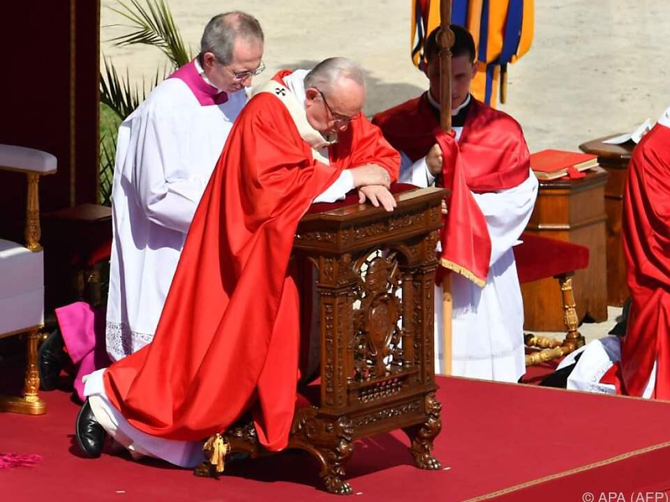 Der Papst läutete die wichtigste Woche im Kirchenjahr ein