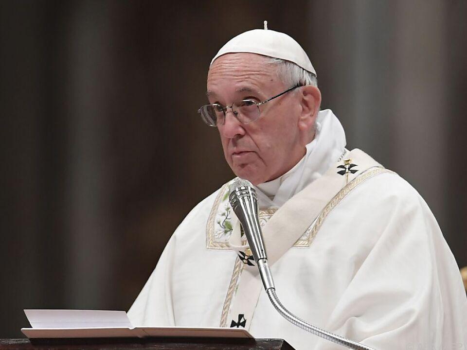 Der Papst sprach speziell die Insel Lesbos an