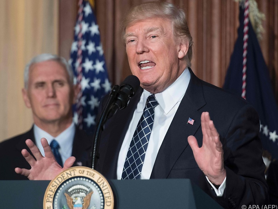Der US-Präsident erhöht den Druck auf China und Nordkorea