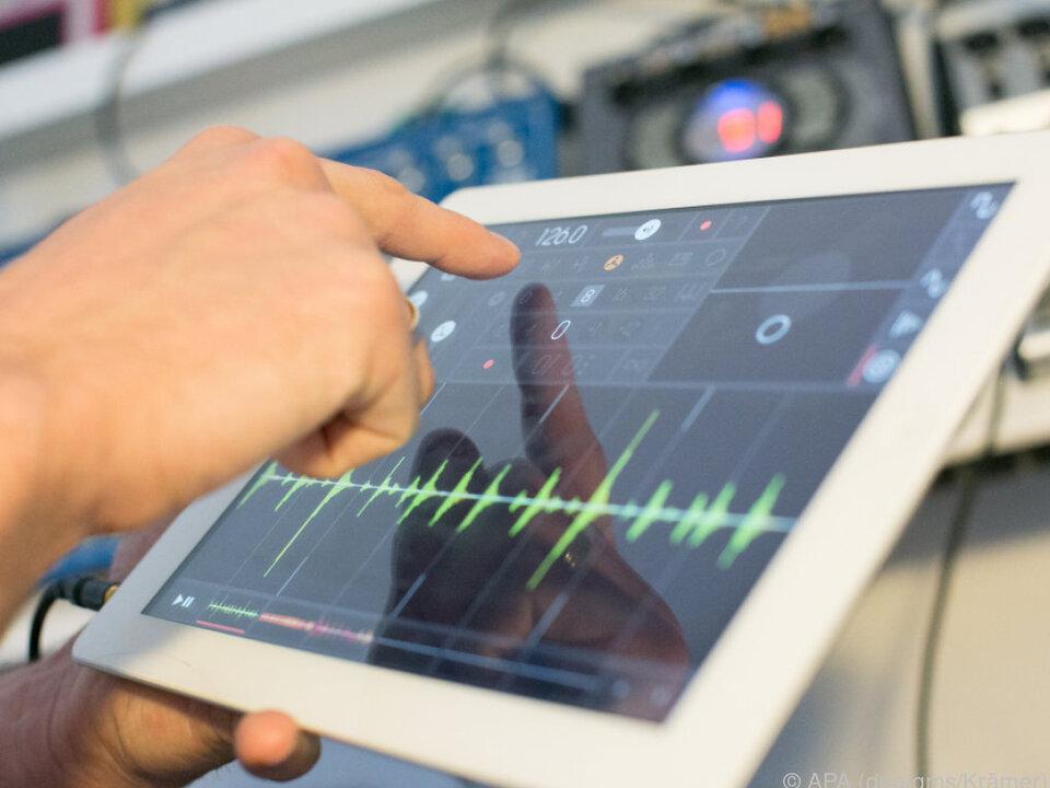 Die iOS-App Samplr bietet ein intuitives Bearbeiten von Sounds