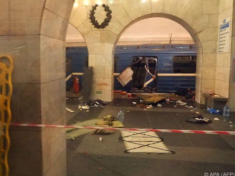 Die Explosion ereignete sich zwischen zwei Stationen