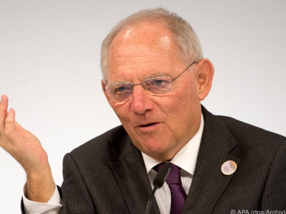 Die Fronten hätten sich aufgelockert, so Schäuble