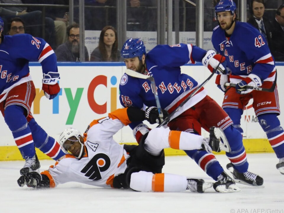Die New York Rangers schlugen die Philadelphia Flyers 4:3