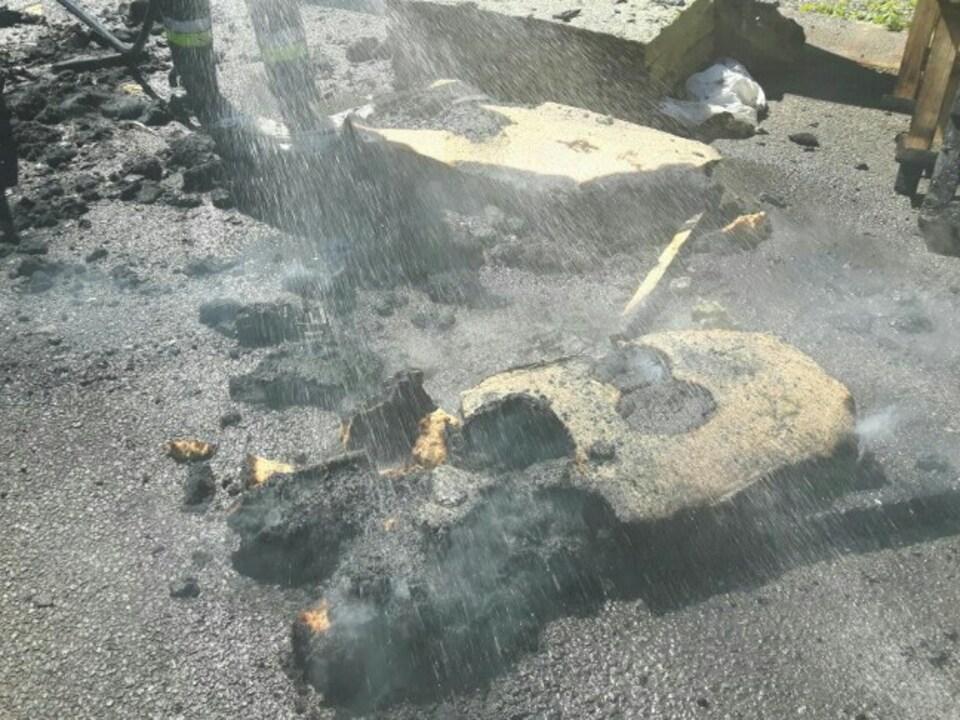 Kleintransporter Feuer