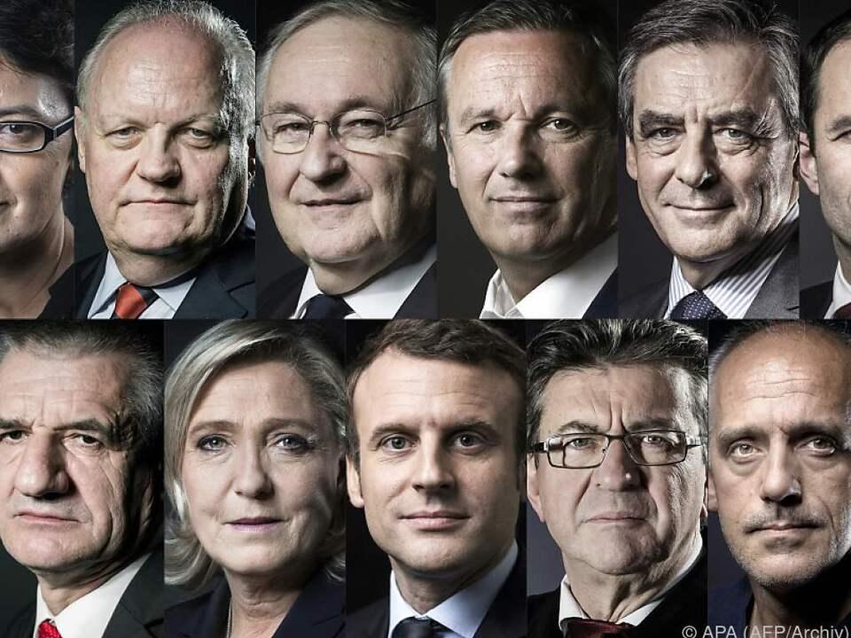 In Umfragen für den ersten Wahlgang lag Macron leicht vorn