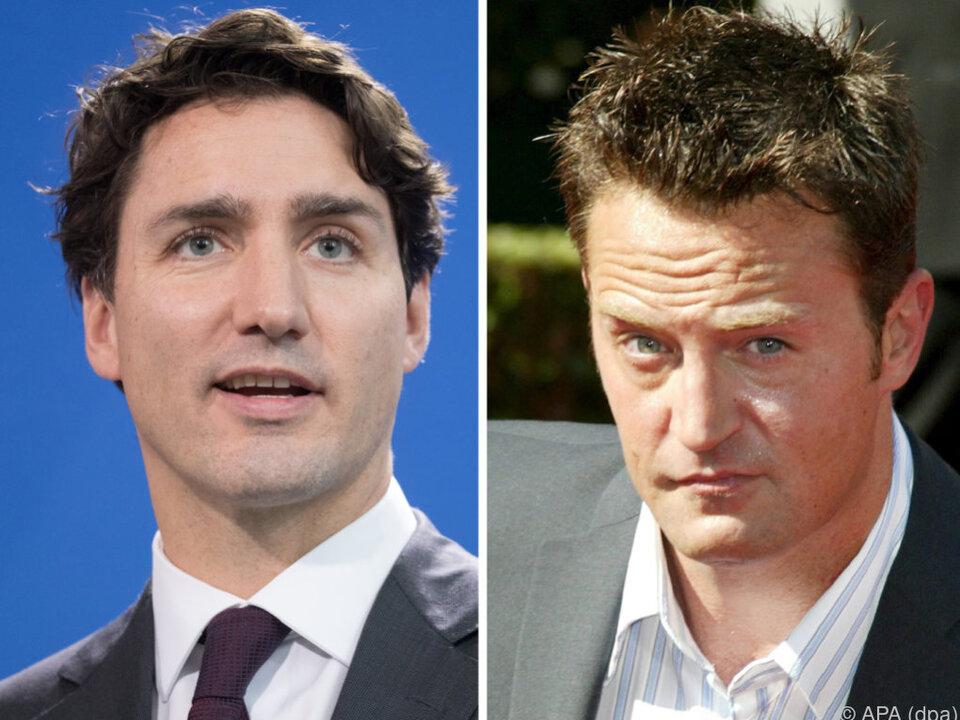 Justin Trudeau und Matthew Perry kennen sich aus der Schulzeit