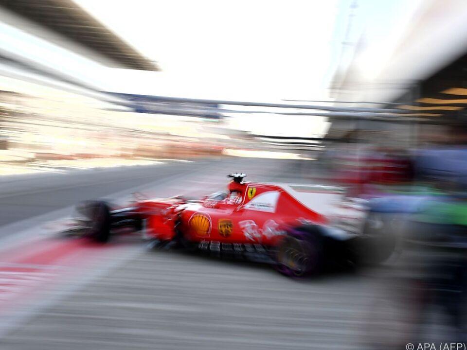 Keiner war schneller als Vettel im Ferrari