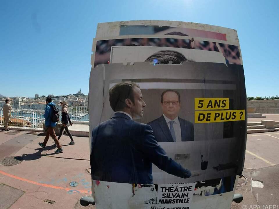 Laut Odoxa-Erhebung liegt Macron bei 24,5 Prozent