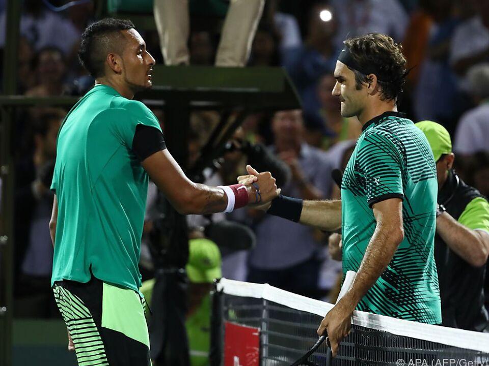 Nick Kyrgios forderte Roger Federer alles ab