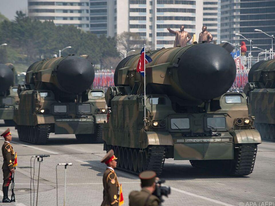 Nordkorea setzt das Säbelrasseln fort