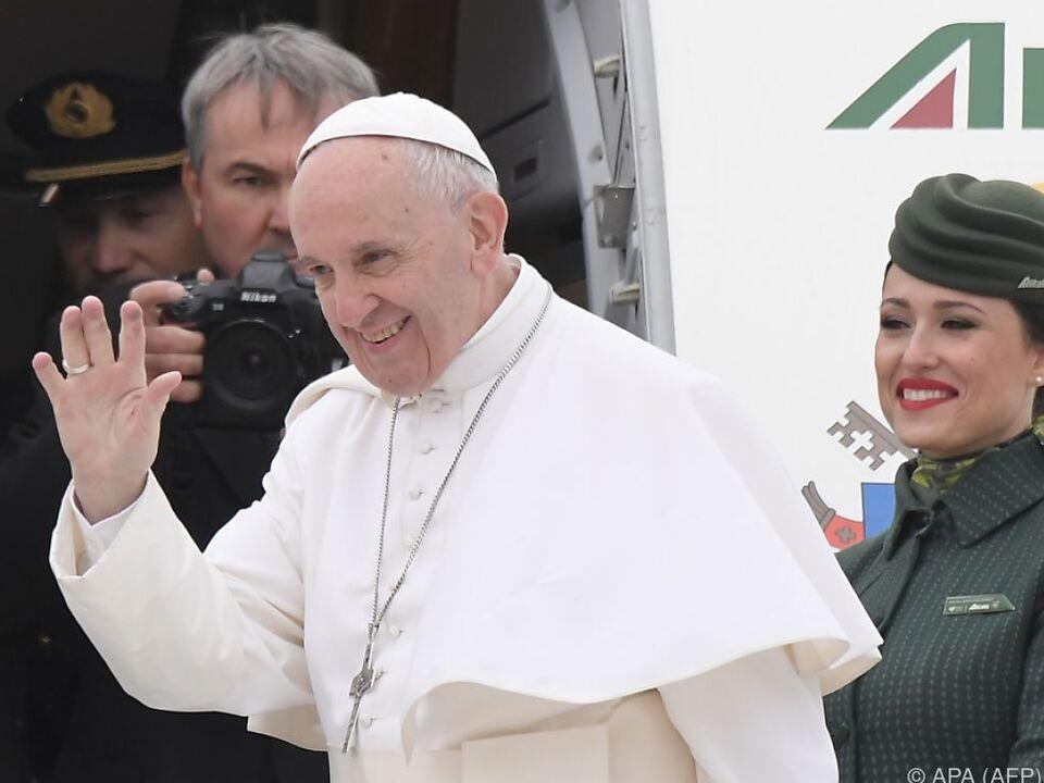 Papst auf \