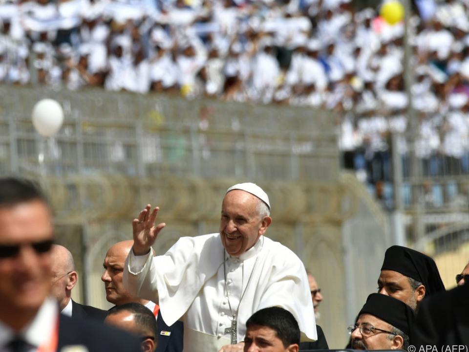 Papst besucht derzeit Ägypten