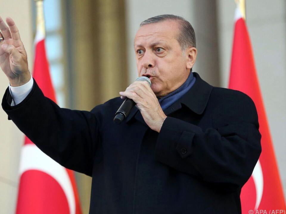 Präsident Erdogan ließ sich gebührend feiern