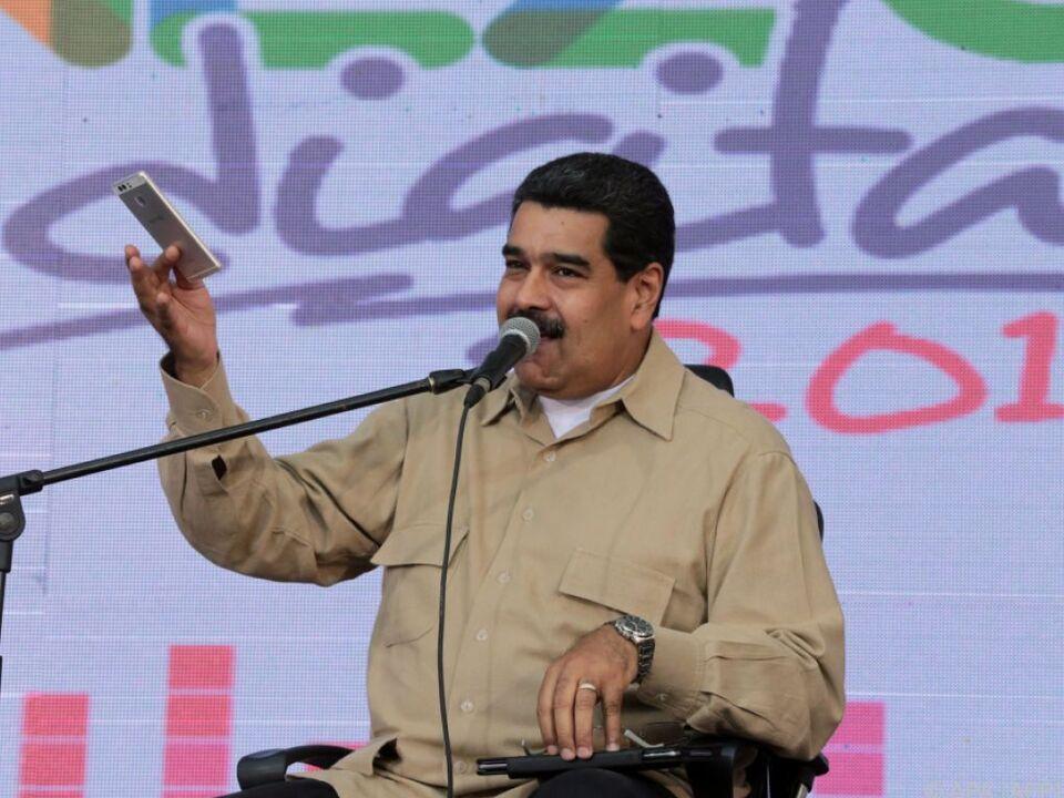 Präsident Maduro sieht den Feind außerhalb des Landes