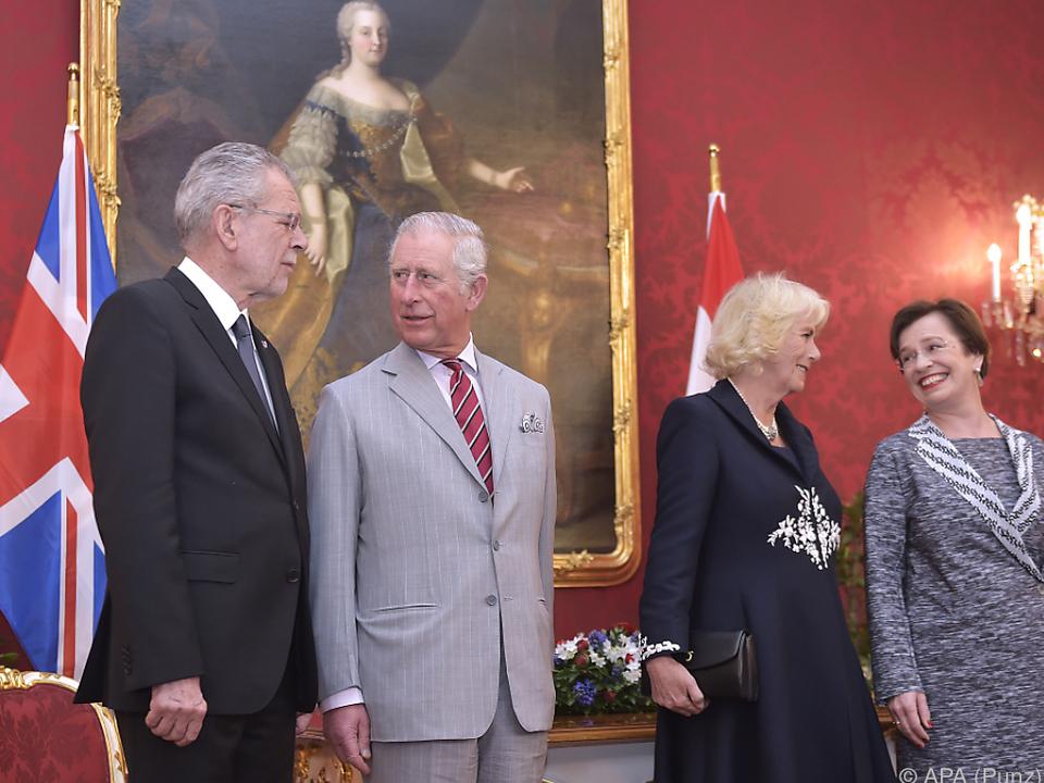 Prinz Charles sprach überdurchschnittlich lang mit Präsident Van der Bellen
