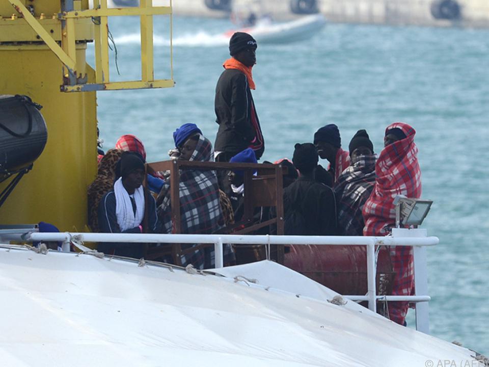 Rund 8.500 Migranten wurden seit Samstag gerettet