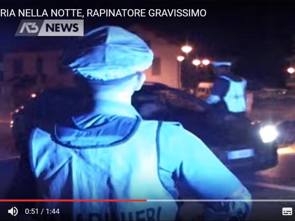 YouTube/antennatre-SPARATORIA NELLA NOTTE, RAPINATORE GRAVISSIMO