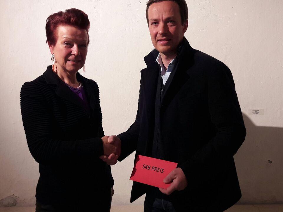 Südtiroler Künstlerbund Preisvereleihung an Aron Demetz