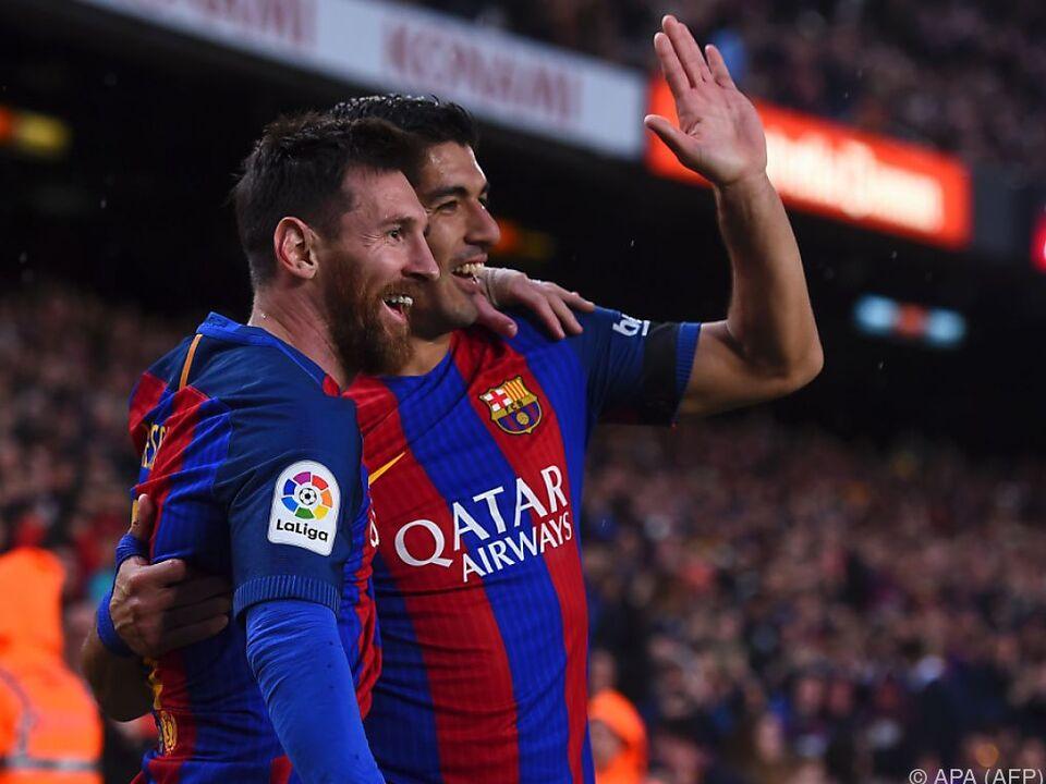 Suarez und Messi erzielten die Tore für Barca