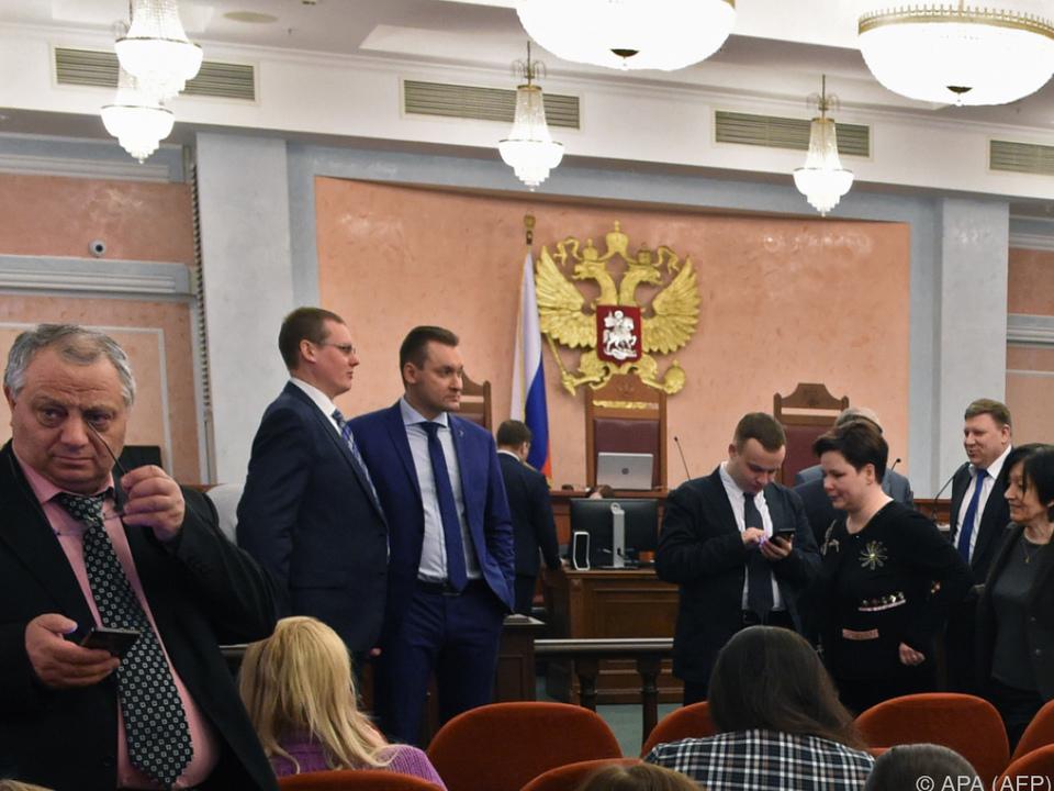 Szene von der Sitzung des Obersten Gerichts Russlands