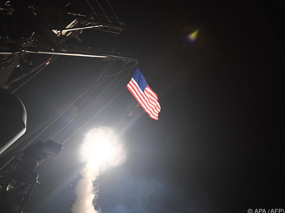 US-Raketenangriff als Antwort auf Giftgasattacke