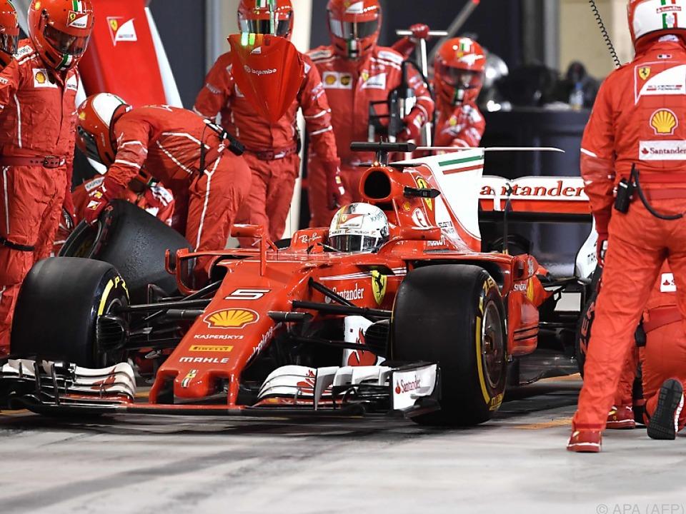 Vettel war am Ostersonntag der Schnellste