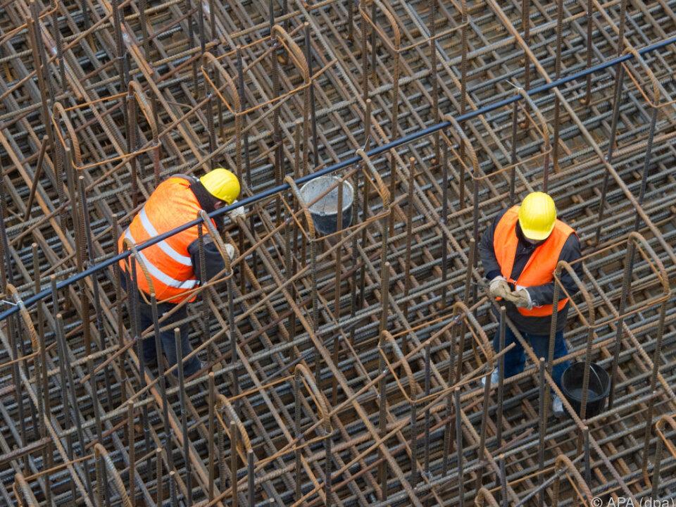 Weniger Arbeitsunfälle im Vorjahr baustelle