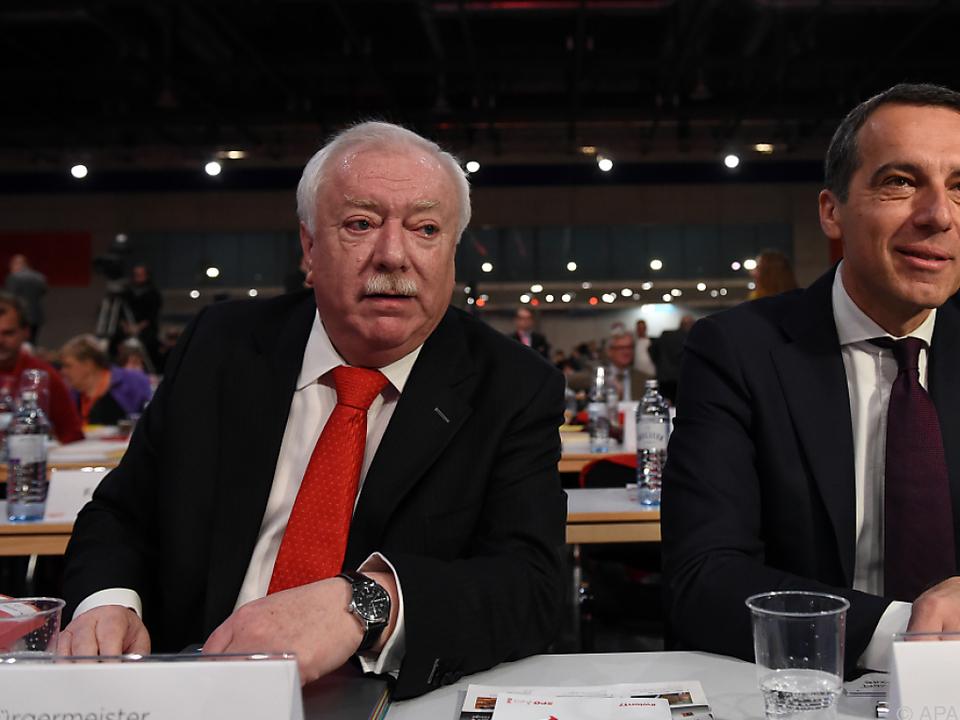 Wien Bürgermeister Häupl mit SPÖ-Chef Kern