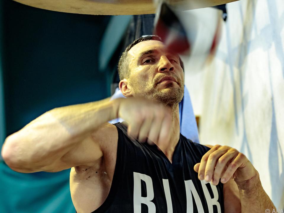 Wladimir Klitschko trainiert beim Stanglwirt