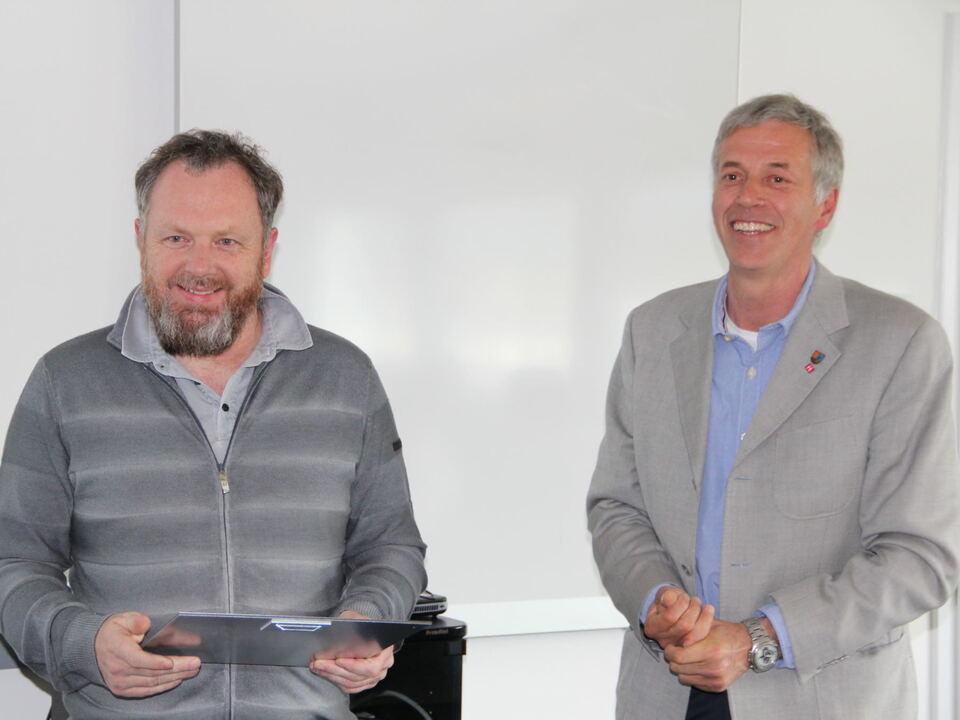 lvh-Präsident Gert Lanz und lvh-Obmann der Installateure für Heizungs- und sanitäre Anlagen Reinhard Ambach