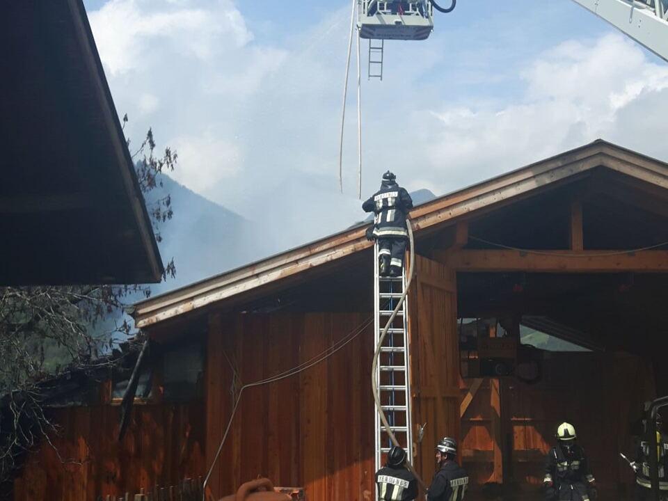 Stadelbrand Verdings Freiwillige Feuerwehr Klausen