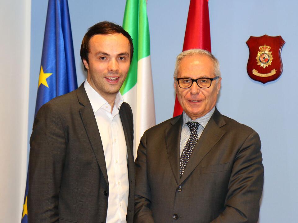 Treffen zwischen SVP-Obmann Philipp Achammer und Quästor Giuseppe Racca