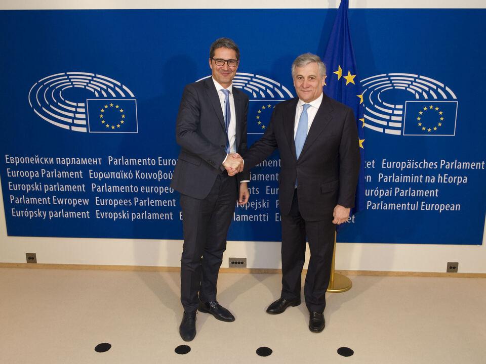 Landeshauptmann Arno Kompatscher;EP-Praesident Antonio TAJANI
